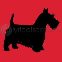 #scottie Colour Art Style Greetings Card