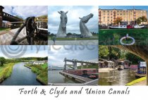 Forth & Clyde & Union Canals Composite Postard (HA6)