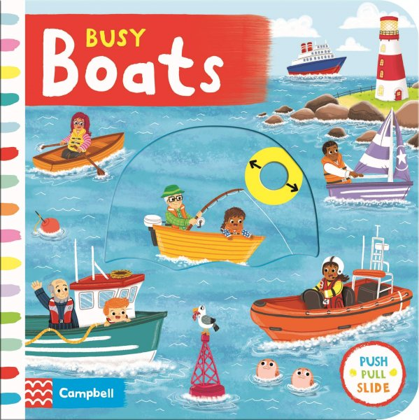 Busy Boats Board Book (May)