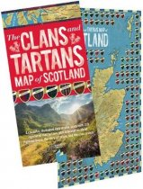 Clans and Tartans Map of Scotland (Waverley) (Jul)