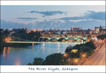 Bridges over Clyde, Glasgow Postcard (H Std CB)