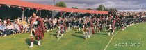 Braemar Highland Gathering, Massed Pipes Postcard (H Pan CB)