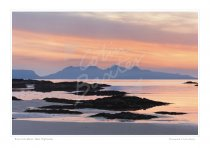 Rum from Morar, West Highlands Print
