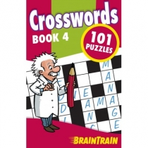 BrainTrain 101 Puzzles Crosswords Book 4