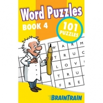 BrainTrain 101 Puzzles Word Puzzles Book 4