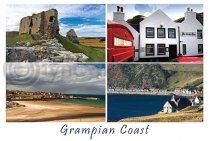 Grampian Coast Composite Postcard (HA6)