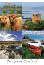 Images of Scotland Composite Postcard (V A6 LY)