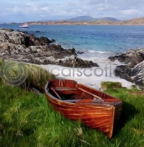 Clinker-Built Boat, Iona Colour Art Greetings Card