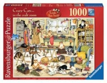 Jigsaw Crazy Cats Craftroom 1000pc