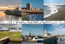 Angus Coastal Towns Composite Postcard (HA6)