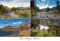 Angus Glens Composite Postcard (H A6 LY)
