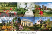 Scottish Gardens Composite Postcard (HA6)