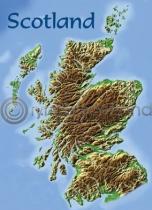 Scotland Map Magnet (V)