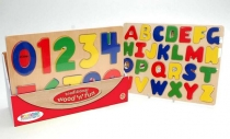 Wood Letter & Numbers Puzzle (2 Assd)(DPU12)