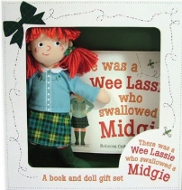 There Was A Wee Lassie... Midgie Book & Doll Gift Set