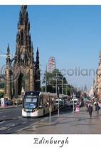Edinburgh Tram on Princes Street Postcard (VA6)