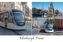 Edinburgh Trams Composite Postcard (HA6)