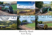 Waverley Route, Borders Railway Composite Postcard (H A6 LY)