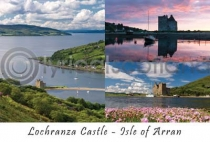 Lochranza Castle, Isle of Arran Composite Postcard (HA6)