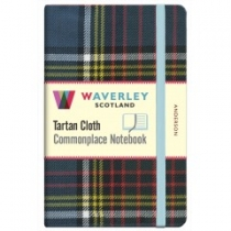 Tartan Cloth Notebook Pocket: Anderson