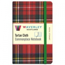 Tartan Cloth Notebook Pocket: Royal Stewart