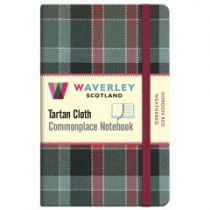 Tartan Cloth Notebook Pocket: Gordon Red Weathered