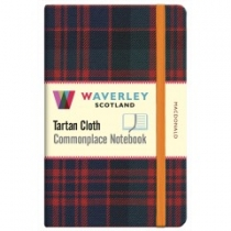 Tartan Cloth Notebook Pocket: MacDonald