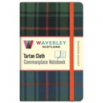 Tartan Cloth Notebook Pocket: Davidson Ancient