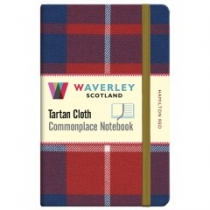 Tartan Cloth Notebook: Hamilton Red