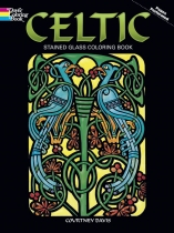 Celtic Stained Glass Colouring Book