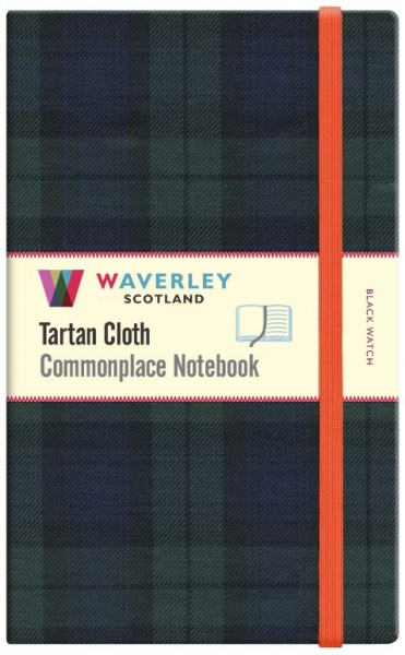 Tartan Cloth Notebook Large: Black Watch