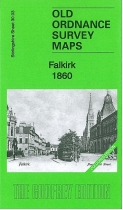 Old OS Map Falkirk 1860 Coloured