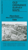Old OS Map Aberdeen Mannofield 1900