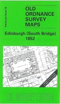 Old OS Map Edinburgh (South Bridge) 1852