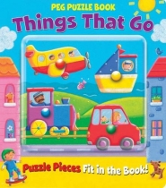 Peg Puzzle Book Things that Go