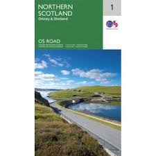 Road Map 01 North Scotland, Orkney & Shetland