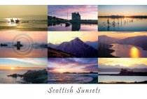 Scottish Sunsets Composite Postcards (HA6)