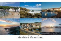 Scottish Coastlines Composite 1 East Postcard (HA6)