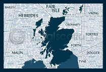 Scotland Shipping Forecast Postcard (VA6)