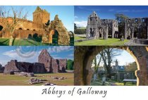 Abbeys of Galloway Postcard (H A6 LY)