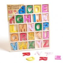 Wood Deluxe Alphabet Letters