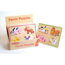 Wood Farm Mother & Baby Puzzle (DPU12)