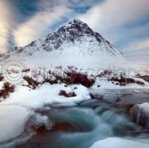 Winter Buachaille Etive Mor Snow Colour Photo Greetings Card