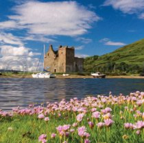 Lochranza Castle, Isle of Arran Colour Art Greetings Card