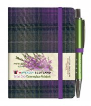 Tartan Cloth Notebook Mini: Heather