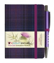 Tartan Cloth Notebook Mini: Thistle