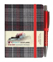 Tartan Cloth Notebook Mini: Castle Grey