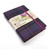 Tartan Cloth Notebook Pocket: Thistle