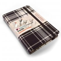 Tartan Cloth Notebook Pocket: Black & White