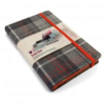 Tartan Cloth Notebook Pocket: Castle Grey